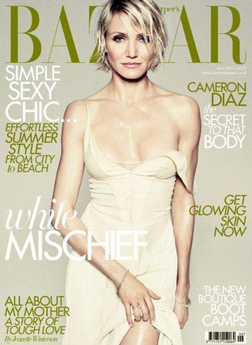 Cameron Diaz, Colin Firth - Cameron Díaz, en la portada de Harper's Bazaar