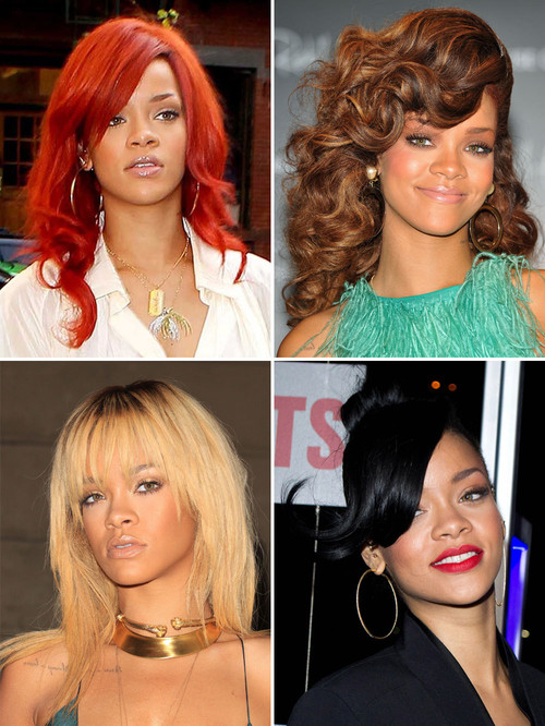 Rihanna, Lady GaGa, Katy Perry - Rihanna y sus distintos colores